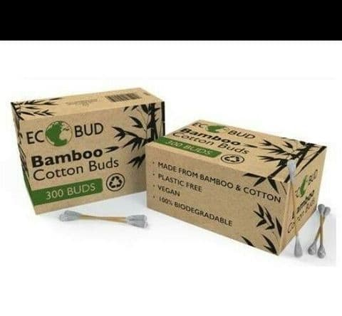 Eco Byd - 300 Pack Bamboo Eco Friendly Cotton Buds